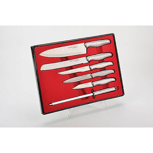 Набор ножей с точилкой из 6 предметов Mayer and Boch (MB-4133) набор эмалированных мисок 4 предмета mayer and boch mb 4938