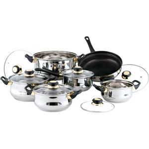 Набор посуды из 12 предметов Bekker Classic (BK-224) набор посуды bekker jumbo вк 962