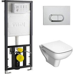 Комплект Vitra S20 унитаз с сиденьем микролифт + инсталляция + кнопка хром (9004B003-7204) унитаз vitra s 20 подвесной 5507b003 0101