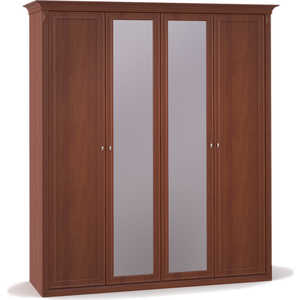 Шкаф Шатура ''Diamante Орех'' 4 дверный (2+2) с зеркалом 355017
