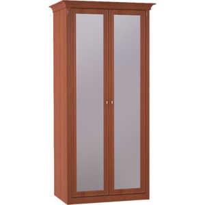 Шкаф Шатура ''Diamante Орех'' 2 дверный с зеркалом 358846