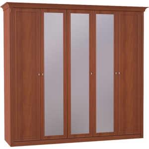 Шкаф Шатура ''Diamante Орех'' 5 дверный (2+1+2) с зеркалом 358850