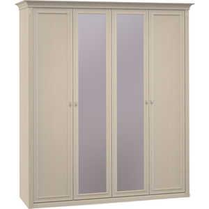 Шкаф Шатура ''Diamante Ясень'' 4 дверный (2+2) с зеркалом 355094