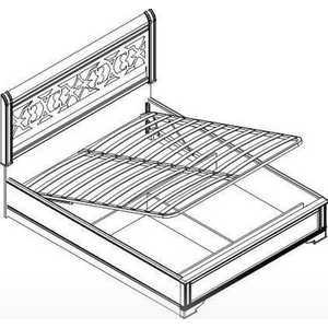 Кровать Шатура ''Diamante Ясень'' 2 спальная с подъёмным механизмом 1600мм 463109
