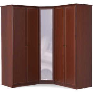 Шкаф угловой Шатура ''Камелия'' 2 дверный+угловой с зеркалом+2 дверный 377885