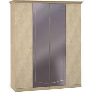 Шкаф Шатура ''Лорена светлая'' 4 дверный (2+2) с зеркалом 463663