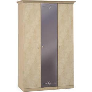Шкаф Шатура ''Лорена светлая'' 3 дверный (1+1+1) с зеркалом 470796