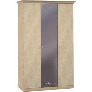 Шкаф Шатура ''Лорена светлая'' 3 дверный (1+2) с зеркалом 470805