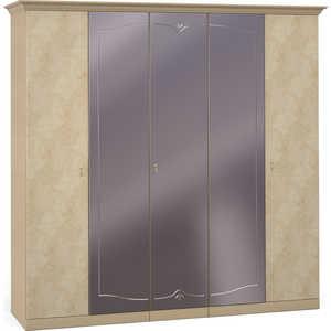 Шкаф Шатура ''Лорена светлая'' 5 дверный (2+1+2) с зеркалом 470812
