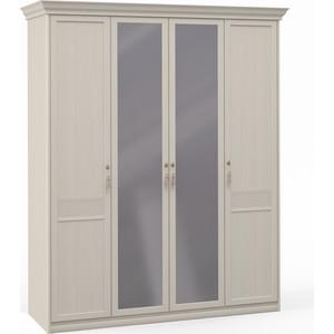Шкаф Шатура ''Лючия светлая'' 4 дверный (1+2+1) с зеркалом 421762