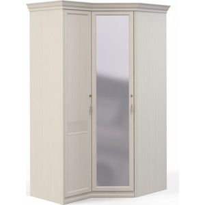Шкаф угловой Шатура ''Лючия светлая'' 1 дверный+угловой с зеркалом 421992