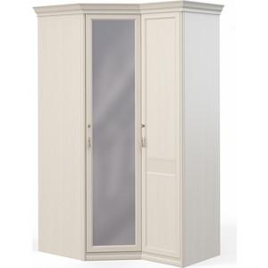 Шкаф угловой Шатура ''Лючия светлая'' угловой с зеркалом+1 дверный 422012