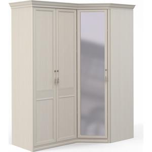 Шкаф угловой Шатура ''Лючия светлая'' 2 дверный+угловой с зеркалом 421994