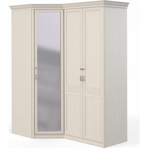 Шкаф угловой Шатура ''Лючия светлая'' угловой с зеркалом+2 дверный 421995