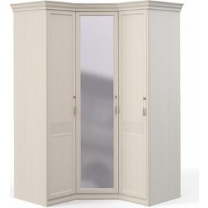 Шкаф угловой Шатура ''Лючия светлая'' 1 дверный+угловой с зеркалом+1 дверный 421770