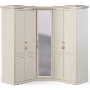Шкаф угловой Шатура ''Лючия светлая'' 2 дверный+угловой с зеркалом+2 дверный 421774