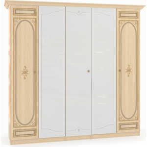 Шкаф Шатура ''Марта-М Беж'' 5 дверный (2+1+2) с 3 зеркалами 205784