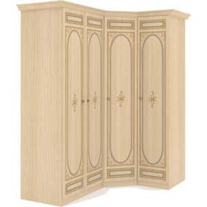 Шкаф угловой Шатура Марта-М Беж Композиция №01 1 дверный+угловой+2 дверный 283922