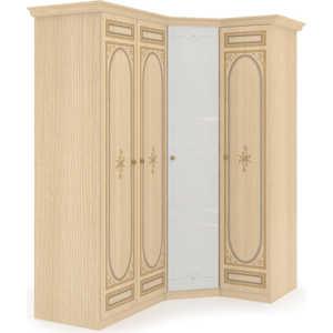 Шкаф угловой Шатура ''Марта-М Беж'' Композиция №05 1 дверный+угловой с зеркалом+2 дверный 283925