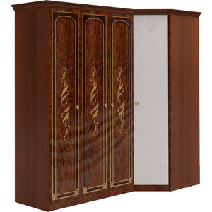 Шкаф угловой Шатура ''Флоренция-М'' Композиция №12 3 дверный+угловой с зеркалом 284316