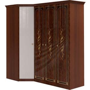 Шкаф угловой Шатура Флоренция-М Композиция №18 угловой с зеркалом+3 дверный 284318 ороситель truper с 3 соплами с пластиковой основой