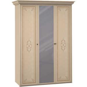 Шкаф Шатура ''Эльба светлая'' 3 дверный (2+1) с зеркалом 410403