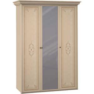 Шкаф Шатура ''Эльба светлая'' 3 дверный (1+1+1) с зеркалом 427690