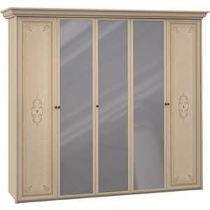 Шкаф Шатура ''Эльба светлая'' 5 дверный (2+1+2) с зеркалом 427719