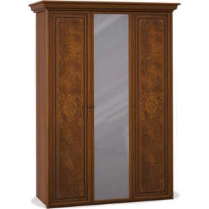 Шкаф Шатура ''Эльба темная'' 3 дверный (2+1) с зеркалом 411666