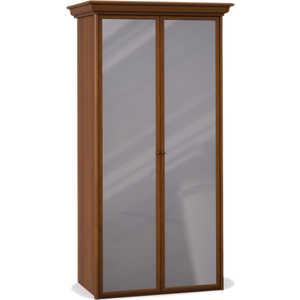 Шкаф Шатура ''Эльба темная'' 2 дверный с зеркалом 411667