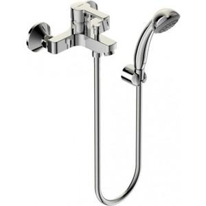 Смеситель для ванны Vidima Уно с душевым гарнитуром (BA238AA) смеситель для ванны vidima уно с прямоугольным поворотным изливом с душевым гарнитуром ba320aa