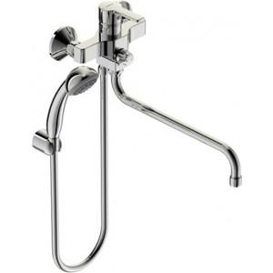 Смеситель для ванны Vidima Уно с душевым гарнитуром (BA240AA) смеситель д биде vidima уно хром