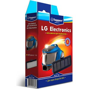 Фильтр для пылесосов Topperr 1144 FLG 751 topperr l 30 фильтр для пылесосовlg electronics 4 шт