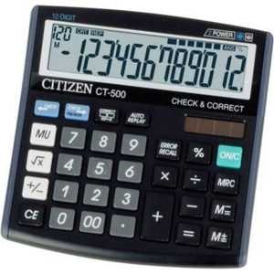Калькулятор Citizen CT-500J черный