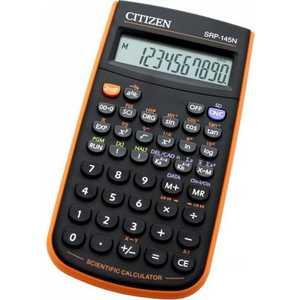 Калькулятор Citizen SRP-145NOR черный/оранжевый калькулятор научный citizen srp 145n 8 2 разряда черный 86 функций питание от батареи арт srp145n