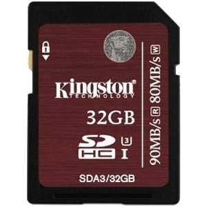 Карта памяти Kingston SDHC 32Gb Class3 (SDA3/32GB)
