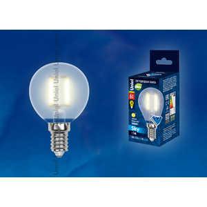 Филаментная светодиодная лампа Uniel LED-G45-6W/WW/E14/FR PLS02WH