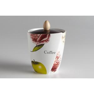 Банка для сыпучих продуктов (кофе) Ceramiche Viva Яблоки и камелии (CV2-4809.2_P-AL)
