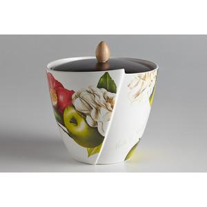 Банка для сыпучих продуктов Ceramiche Viva Яблоки и камелии (CV2-4839-AL)