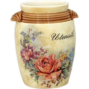 Подставка для кухонных принадлежностей LCS Элианто (LCS676MES-EL-AL) ваза для цветов lcs элианто цвет бежевый коричневый 30 см