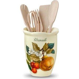 Подставка для кухонных принадлежностей Nuova Cer Итальянские фрукты (NC7372-CEM-AL) nuova cer сливочник итальянские фрукты