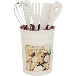 Подставка для кухонных принадлежностей Terracotta Шеф-повар (TLY302-2-CHEF-AL)