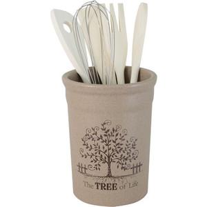 Подставка для кухонных принадлежностей Terracotta Дерево жизни (TLY302-2-TL-AL)