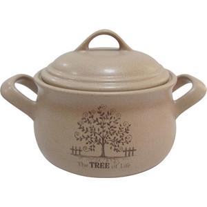 Горшочек с ручками и крышкой Terracotta Дерево жизни (TLY4098-3-TL-AL) чашка с блюдцем terracotta дерево жизни tly314s2 tl al