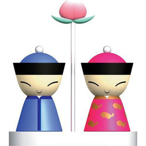 Солонка и перечница Alessi Mr. and Mrs. Chin (012.070600.002)