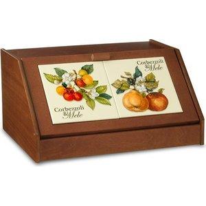 Хлебница Nuova Cer Итальянские фрукты (NC6837-CEM-AL) столовая посуда nuova cer чайник итальянские фрукты nc7360 cem al