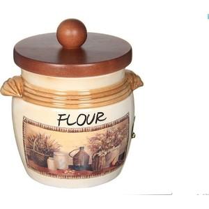 Банка для сыпучих продуктов (мука) LCS Натюрморт (LCS670MLFV-AL) столовая посуда lcs банка для кофе с деревянной крышкой натюрморт lcs670plcv al