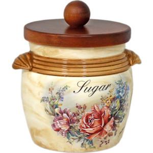 Банка для сыпучих продуктов (сахар) LCS Элианто (LCS670MLS-EL-AL) ваза для цветов lcs элианто цвет бежевый коричневый 30 см