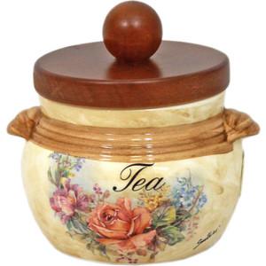 Банка для сыпучих продуктов (чай) LCS Элианто (LCS670PLT-EL-AL) ваза для цветов lcs элианто цвет бежевый коричневый 30 см