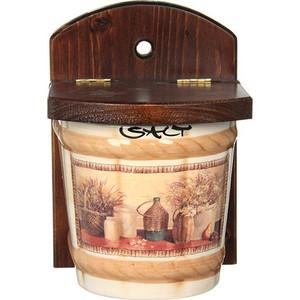 Настенная банка для сыпучих продуктов (соль) LCS Натюрморт (LCS871V-AL) банка для сыпучих продуктов кофе lcs роза и малина lcs670plc rm al